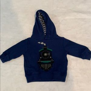 Gymboree train hooded sweatshirt